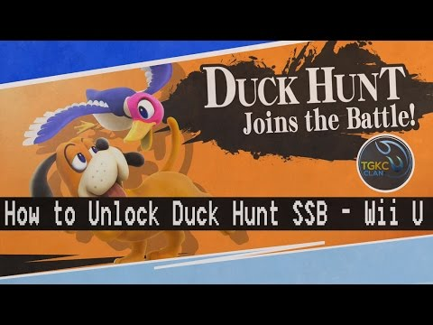 How to Unlock Duck Hunt in Super Smash Bros Tutorial - Cruel Smash Gameplay Wii U