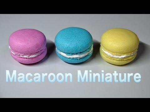 Macaroon Miniature Resin DIY フェイクスイーツ マカロン製作記 スイーツデコ