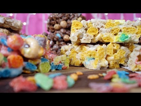 Marshmallow Treats Featuring Your Favorite Cereals