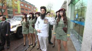 General Aladeen arrives for his interview with on Alan Carr: Chatty Man in the UK