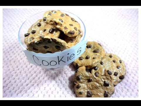 Paper mache: Chocolate chip cookies