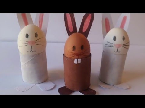Easy Easter Craft - How to Make a Bunny Egg Holder