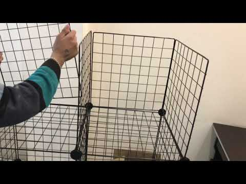 DIY Closet Cabinet Metal Wire Storage Cubes Organizer (12 - Regular Cube)