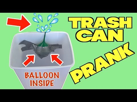 Evil Trash Can Prank You Can Do On Your Family At Home When They Do Chores - HOW TO PRANK