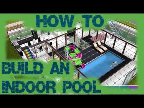 Sims Freeplay | How to Build An Indoor Pool