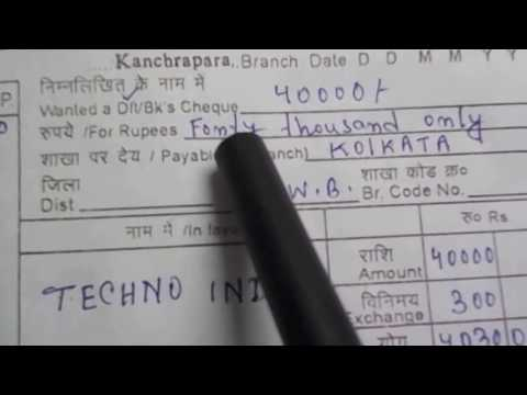 How to fill Demand Draft form of SBI? || Simplified in Hindi || HD ||