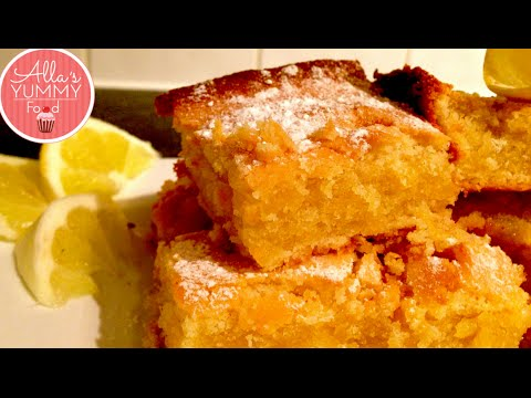 Lemon Drizzle Cake Recipe, How to make Lemon Cake, - Лимонный пирог