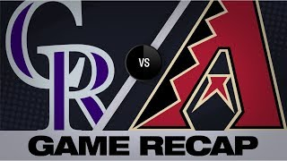 Kelly, Peralta lift D-backs with clutch 8th | Rockies-D-backs Game Highlights 8/19/19