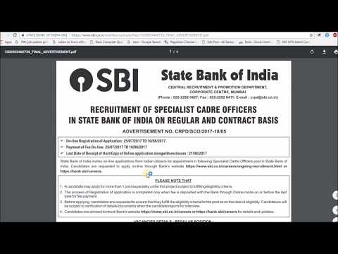 State Bank of India (SBI) Recruitment 2018 | Bank Jobs | Apply Now