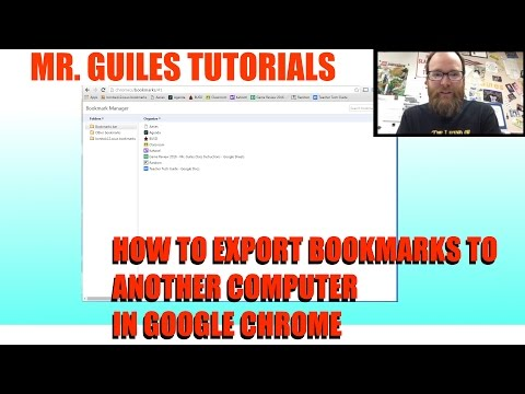 How To Export Bookmarks To Another Computer in Chrome