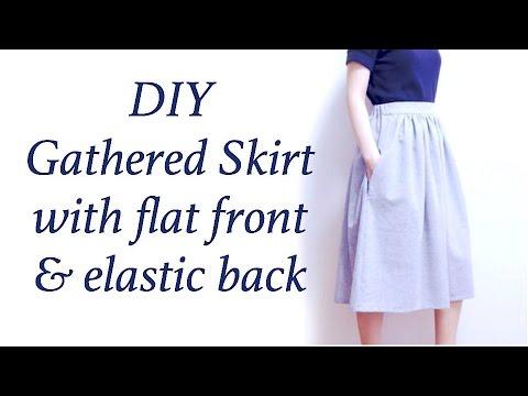 DIY Gathered Skirt / Half Elastic Waistband Tutorial // ギャザースカートの作り方 / Sewing Tutorialㅣmadebyaya