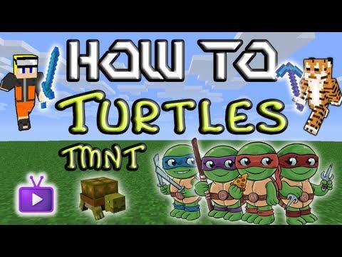 Minecraft How To: Mo' Creatures - Teenage Mutant Ninja Turtles Easter Egg!
