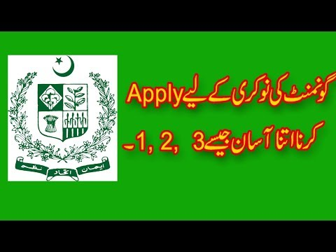 How to apply govt jobs online in Pakistan - how to make portal on Punjab govt  jobs site