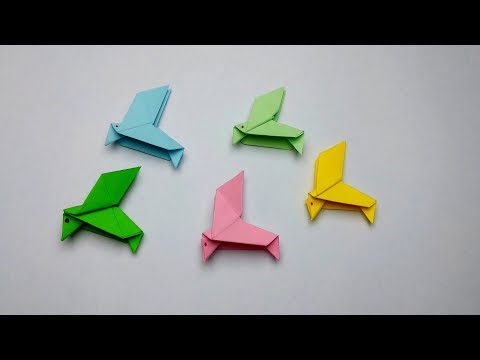 How to make a Paper bird? [3D Origami Tutorial]