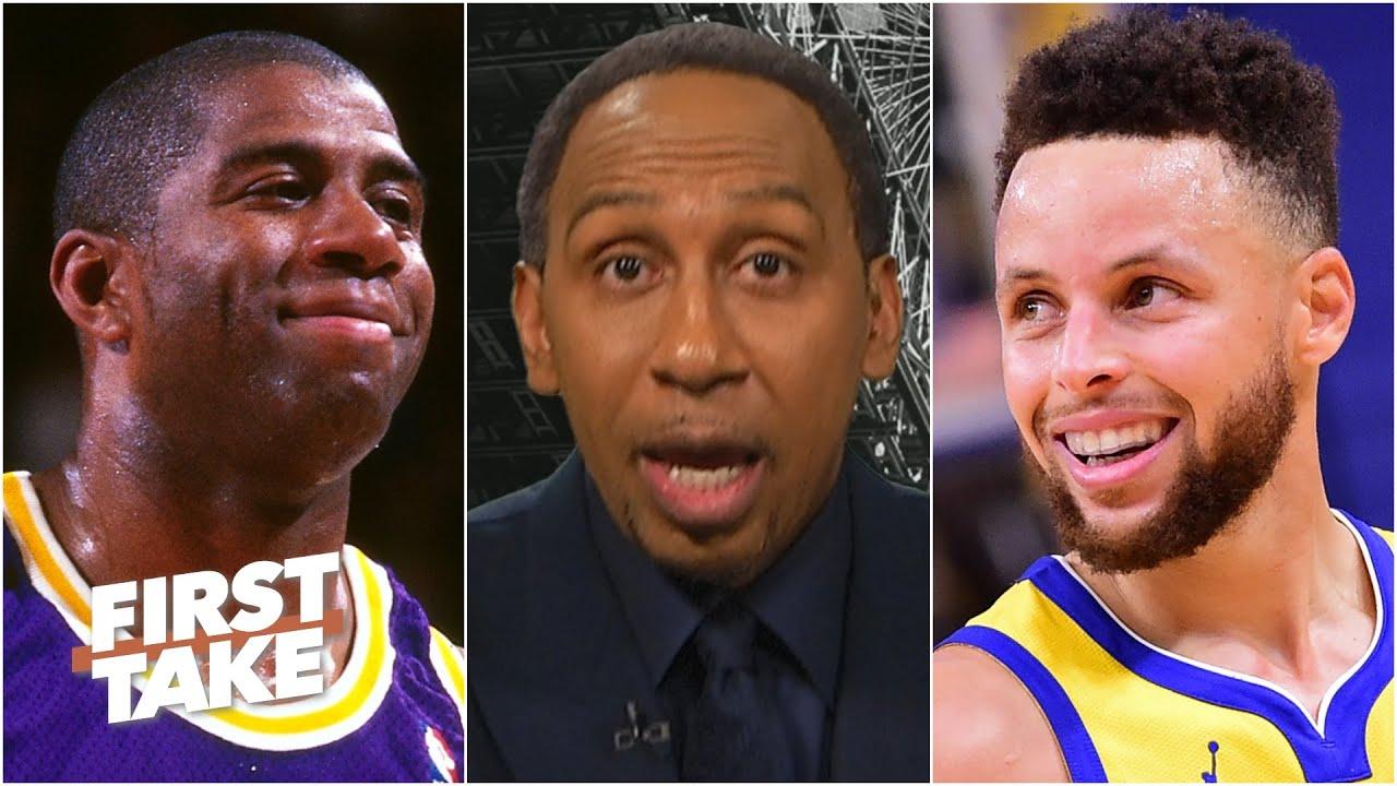 Stephen A. and Kendrick Perkins debate Steph Curry vs. Magic Johnson   First Take