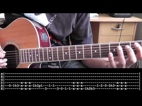 Taylor (Jack Johnson) Intro Guitar Cover + Tabs and Slow Motion Lesson