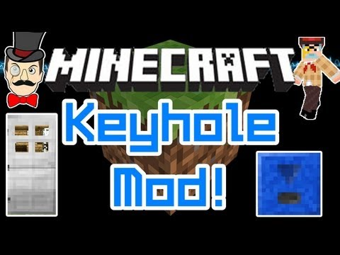 Minecraft Mods - KEYHOLE Mod! Keep Out Creepers, Lock & Open Doors!