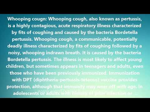 Whooping cough - Medical Definition and Pronunciation
