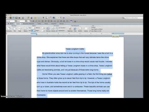 Reformat Text Width in Word