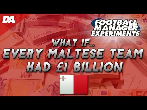 Every Maltese Football Team With £1 Billion! #4 - Football Manager 2016 Experiment