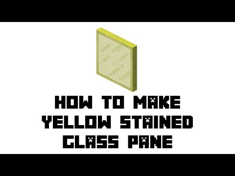 Minecraft Survival: How to Make Yellow Stained Glass Pane