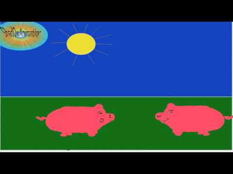 Adobe Flash CS6 first little Animation ? Find the language^^(HD/ joke with pigs)
