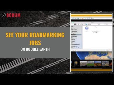 See your roadmarking jobs on Google Earth