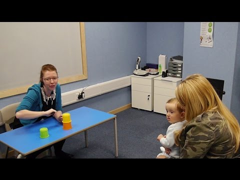 How do you test a child's hearing when they are too young to talk?