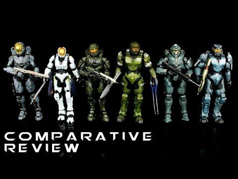 Halo 5 & Halo 3 Legends Comparative Figure Review