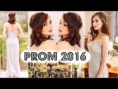 GRWM Prom 2016 | Great Gatsby / 1920's Flapper Makeup, Bob & Gown