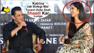 Salman Khan BLUSHES When Asked About WEDDING With Gf Katrina Kaif At Bharat Movie Zinda Song Launch