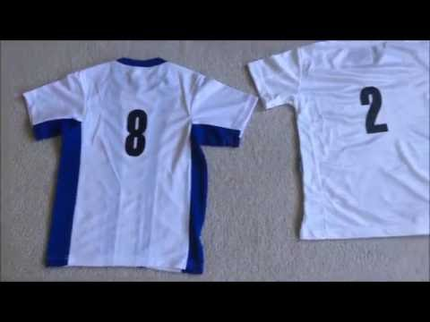DIY Sports Soccer Jersey with numbers Dritz Iron on transfers review