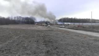 Garrettsville Turkey Farm Fire, part 2 (4/2/2014)