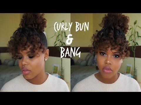 Easy Curly Bang & Bun Tutorial | Holiday Hairstyle for Natural Hair