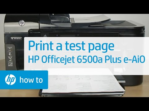 Printing a Test Page - HP Officejet 6500a Plus e-All-in-One Printer (E710n)