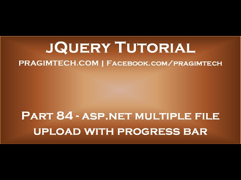 asp net multiple file upload with progress bar