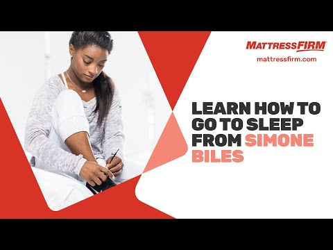 Learn how to go to sleep from Simone Biles | Mattress Firm