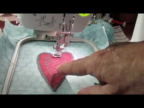 How to Make a Heart Using Appliqué Embroidery on the Brother SE400 Sewing Machine