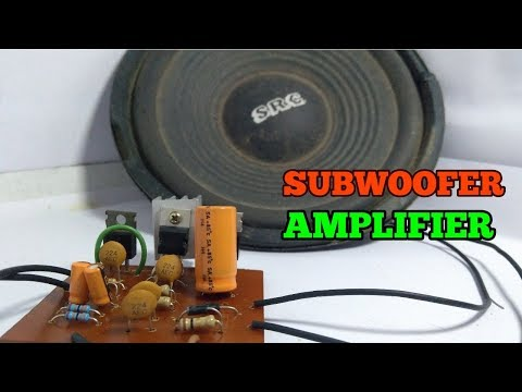 How to make subwoofer amplifier circuit Simple, Use IC tda2030