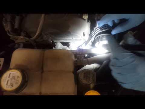 2005 Mazda M 3 alternator belt replacement part 2
