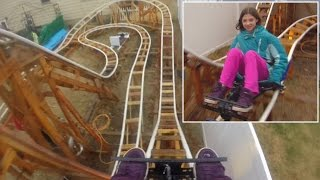 See Roller Coasters Set Up In People