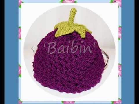 Baibin Blackberry Tea Cosy / Cozy (Double Knitting / DK)  Knitting Pattern!