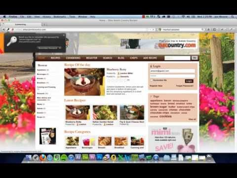 Creating a Cookbook on the Recipe page of Ohiosamishcountry.com