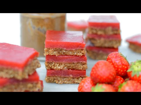 Almond Butter and Strawberry Jelly Slices