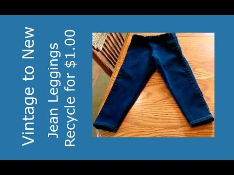 Remake / Recycle Jean Leggings for Toddler