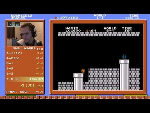 Super Mario Bros. Speedrun in 4:56.462
