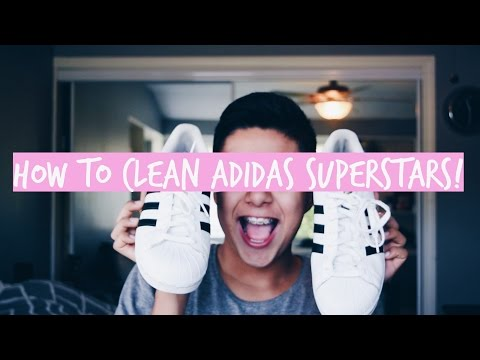 HOW TO CLEAN ADIDAS SUPERSTARS!