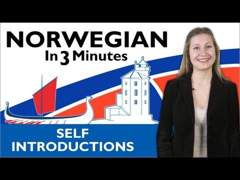 Learn Norwegian - Norwegian in Three Minutes - How to Introduce Yourself in Norwegian