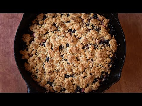 Blueberry Rhubarb Crumble