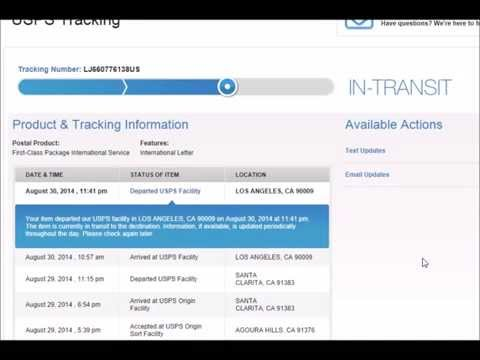 International Shipping - Tracking/Delivery